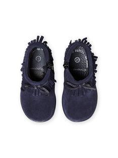 Botins azul-marinho com franjas bebé menina MIBOOTINDI / 21XK3771D0D070