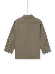 Camisa mangas compridas caqui com padrão crocodilo menino MOKASURCHEM / 21W902I1CHM628
