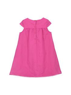 Vestido em algodão rosa menina FATUROB2 / 19S901F5ROB712