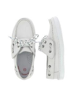 Boys' boat shoes CGBATVELAC / 18SK36W2D4N000