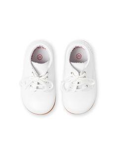 Botins brancos bebé menino LBGBOTIESSB / 21KK3831D0F000