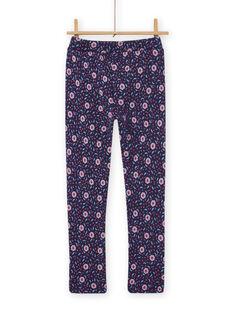 Calças azul com estampado florido menina MAPLAPANT1 / 21W901O1PANC202