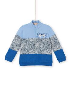 Sweat colorblock azul lavanda menino LOBLESWE / 21S902J1SWEC208