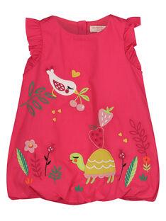 Vestido em popeline bebé menina FIYEROB3 / 19SG09M3ROB304