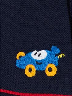 Casaco azul-noite em malha fina bebé menino LUHAGIL / 21SG10X1GIL713