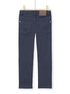 Calças de ganga lisas azul-marinho menino MOJOPAKNI2 / 21W90226PANC202