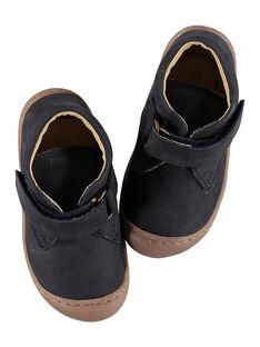 Botas flexíveis couro nobuck azul-marinho bebé menino GBGBOTIFLEM / 19WK38I2D0F070