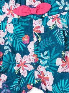 Calções azul e rosa estampado florido bebé menina LIBONSHO / 21SG09W1SHO716