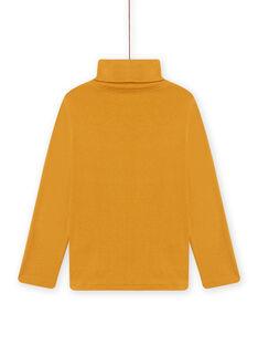 Camisola interior amarela com padrão de animais fantasia menino MOSAUSOUP / 21W902P1SPLB107