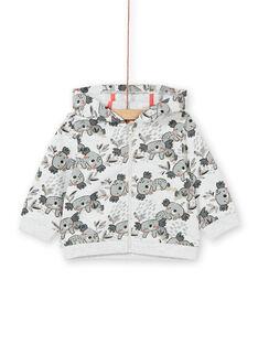Sweat com capuz cinzento e cru com estampado coalas bebé menino LUPOEGIL / 21SG10Y1GILA011