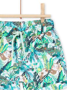 Bermudas com padrão selva verde bebé menino LUVERBER1 / 21SG10Q1BER001