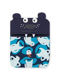 Conjunto pijama T-shirt e calças azul e azul-marinho menino MEGOPYJMAN2 / 21WH1271PYG705