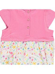 Baby girls' romper in two fabrics CIMABAR2 / 18SG09U2BAR313