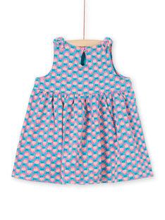 Vestido turquesa bebé menina LIPLAROB3 / 21SG09T1ROBC216