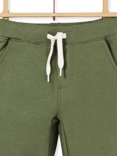 Calças verdes em algodão criança menino LOJOPAN2 / 21S90234PANG631