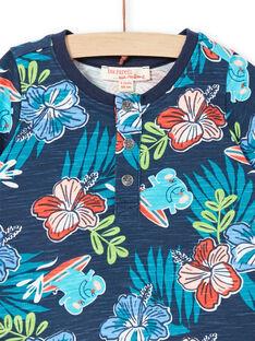 T-shirt de mangas curtas azul bebé menino LUBONTUN / 21SG10W1TMC717