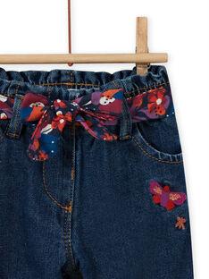 Calças de ganga com estampado florido bebé menina MIPAPAN / 21WG09H2PANP274