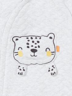 Macacão cinzento mesclado com bolso cabeça de leopardo 3D nascimento unissexo LOU1COM / 21SF05H1CBLJ920