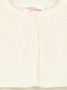 Cardigan dourado em tricô e lurex menina GINOCAR2 / 19WG09V2CAR954