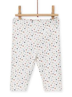 Conjunto vestido e leggings padrão decorativo recém-nascido menina MOU1ENS6 / 21WF0342ENS001