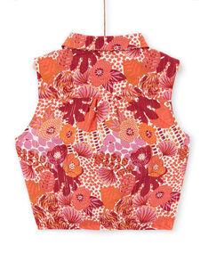 Camisa laranja e rosa estampado florido LATERCHEM / 21S901V1BLU001