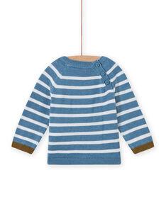 Camisola azul-celeste e branco bebé menino MUKAPUL / 21WG10I1PUL020