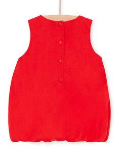 Camisola vermelha bebé menina LICANROB4 / 21SG09M2ROBF505