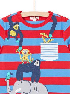 T-shirt mangas curtas azul criança menino LOVITI2 / 21S902U5TMC201