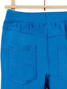 Calças azuis em algodão criança menino LOJOPAN1 / 21S90233PAN702