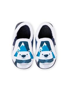 Pantufas bicolor padrão urso bebé menino MUPANTPOL / 21XK3821D0A070