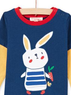 T-shirt azul-marinho e vermelho bebé menino MUMIXTEE3 / 21WG10J2TML713