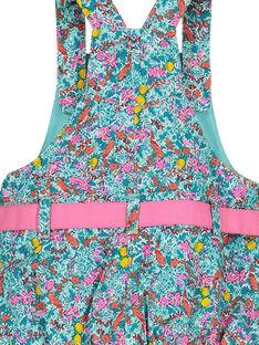Vestido jardineiras florido bebé menina FICUROB3 / 19SG09N3ROB202
