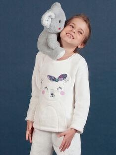 Conjunto pijama em soft boa padrão coala menina MEFAPYJKOA / 21WH1199PYJ001