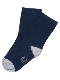 Meias menino azul-marinho e cinzento JYOESCHO3 / 20SI0265SOQ070