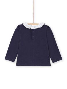 T-shirt azul-marinho e branca bebé menina MIJOBRA3 / 21WG0913BRA070