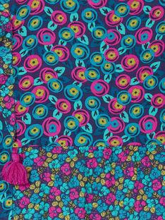 Vestido mangas compridas estampado floral, e folhos à frente KAECOROB4 / 20W901H3ROBH703