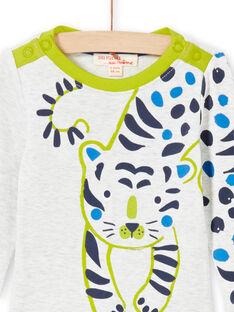 Body cru mesclado e verde bebé menino MUKABOD / 21WG10I1BOD006