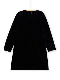 Vestido em pano de veludo, aplicação bordada KALUROB3 / 20W901P2ROBC205