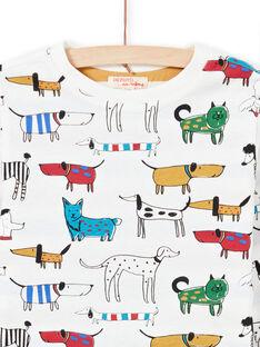T-shirt branca reversível menino MOMIXTEE1 / 21W902J1TML810