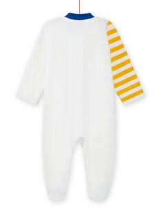 Babygro cru com padrão de animais bebé menino MEGAGREFER / 21WH1433GRE001