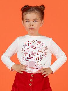 T-shirt de mangas compridas reversível padrão cerejas menina MACOMTEE1 / 21W901L1TML001