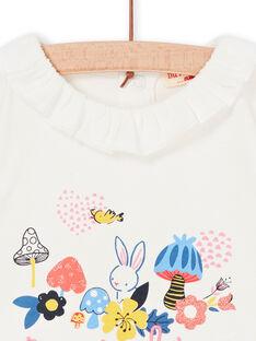 T-shirt cru bebé menina LIHABRA / 21SG09X1BRA001