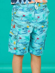 Bermudas turquesa criança menino LOBONBER1 / 21S902W1BERC201