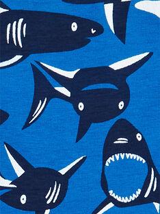 Lote de 5 boxers verde, azul e vermelho estampado tubarões criança menino LEGOBOXSEM1 / 21SH1222BOX070