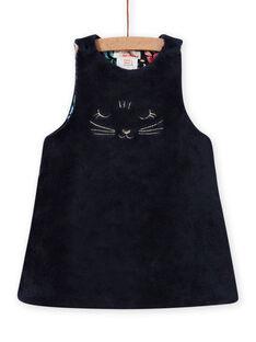 Vestido reversível sem mangas estampado florido bebé menina MIPLAROB3 / 21WG09O1ROBC202