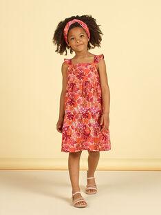 Vestido laranja e rosa estampado florido LATEROB1 / 21S901V3ROB001