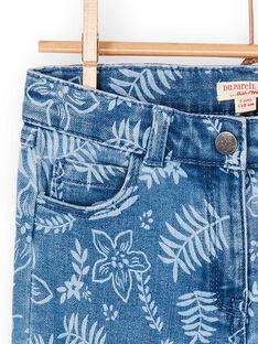 Calças de ganga azuis estampado florido LANAUJEAN / 21S901P1JEAP274