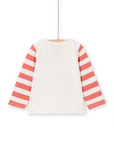T-shirt mangas compridas às riscas bebé menino LUPOETEE2 / 21SG10Y2TMLA011