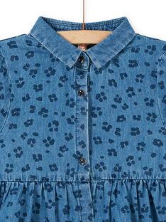 Vestido de ganga estampado leopardo em algodão LABLEROB1 / 21S901J2ROBP274