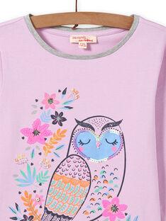 T-shirt lavanda padrão mocho menina MAPLATEE1 / 21W901O3TML326